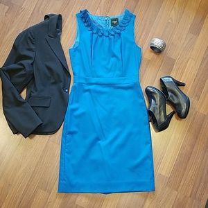 J.Crew Suiting teal sheath dress size 4